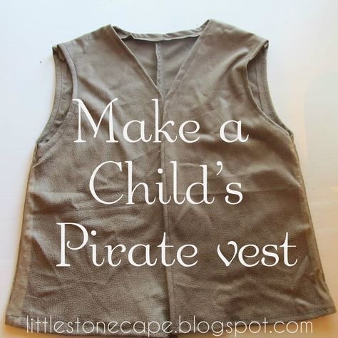 Halloween Costume Series #5 Child's Pirate Vest (and sash) If you're just joinin…