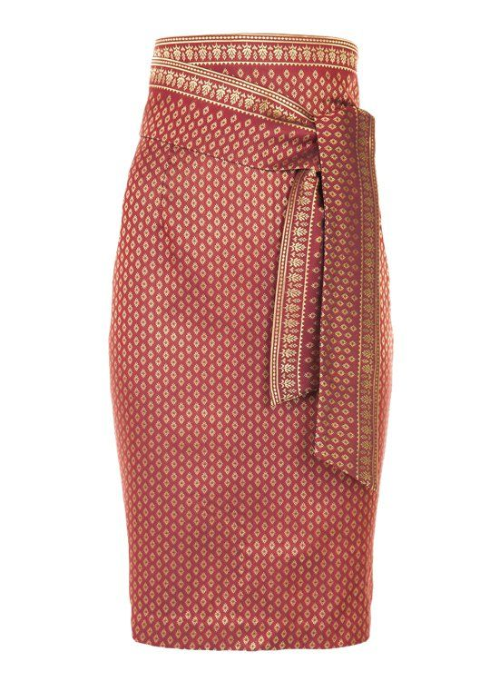 High waisted Thai Silk skirt | www.georgine.info
