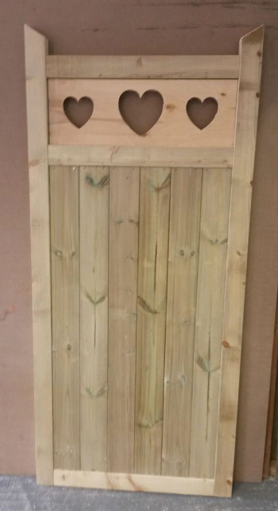 Details About Wooden Garden Gate Made To Measure Bespoke Gates Heart Gate