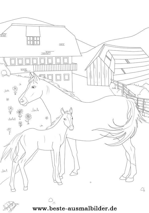 Beste Ausmalbilder Ausmalbilder Pferde Ausmalbilder Pferde Zum Ausdrucken Ausmalbilder