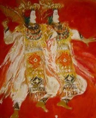 Topeng [mask] dance by Srihadi