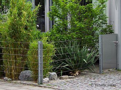 eine schöne und kostengünstige idee für einen zaun aus stahl und, Garten und Bauten