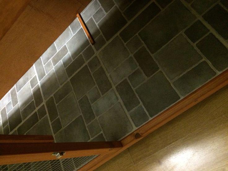 Adding Vinyl Floor Tiles To The Floor Of A Rabbit Cage