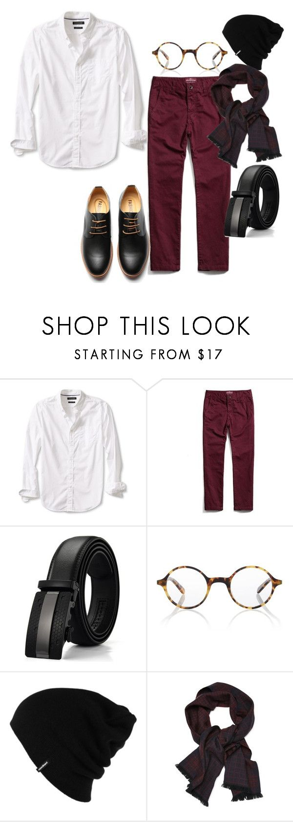 """""""Pristine and a pop"""" by niki-row ❤ liked on Polyvore featuring Banana Republic, Finlay & Co., Patagonia, men's fashion and menswear"""