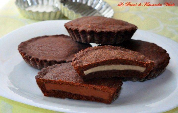 Crostatine al doppio cioccolato