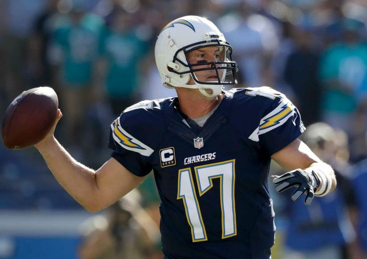 Dolphins vs. Chargers:  31-24, Dolphins  -  November 13, 2016  -    San Diego Chargers quarterback Philip Rivers passes against the Miami Dolphins during the first half of an NFL football game in San Diego, Sunday, Nov. 13, 2016.
