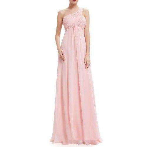 Vestido Largo Rosa Claro Fular | Suen-Vestidos de fiesta