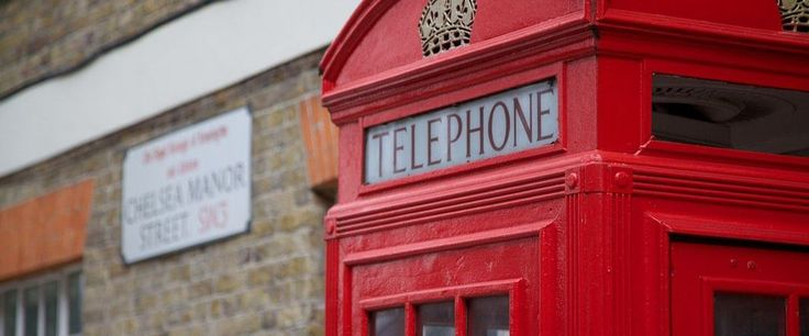 Red telephone box in Chelsea Manor Street