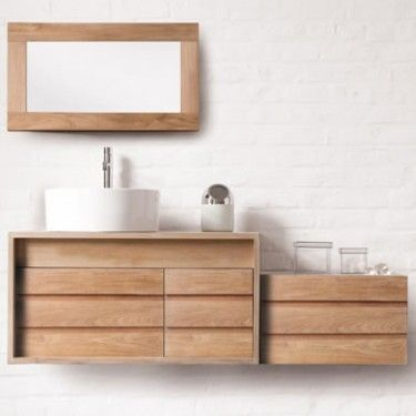 images about line art teak  oak bathroom vanities, Home design