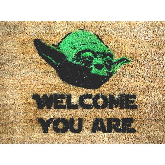 Welcome you are mat sci fi novelty geek stuff fan art buzzfeed yoda front doors house and - Geeky welcome mats ...