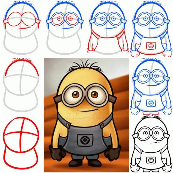 How To Draw a Minion from Despicable Me step by step DIY tutorial instructions, How to, how to do, diy instructions, crafts, do it yourself, diy website, art project ideas