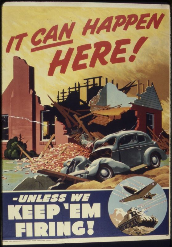 This a propaganda poster made during the years that World War 2 occurred. It's credible because it was found on a website that shows different propaganda posters and what they represent. From the poster I can see that Canadians lived in fear that their homes and other belongings would be damaged, since it was happening overseas at the same time.