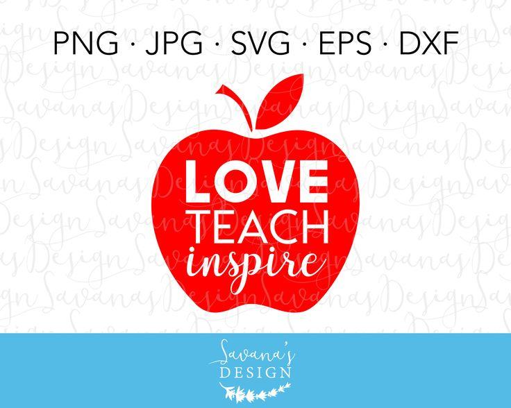 Download Teach Love Inspire SVG, Teacher SVG, Love Teach Inspire ...