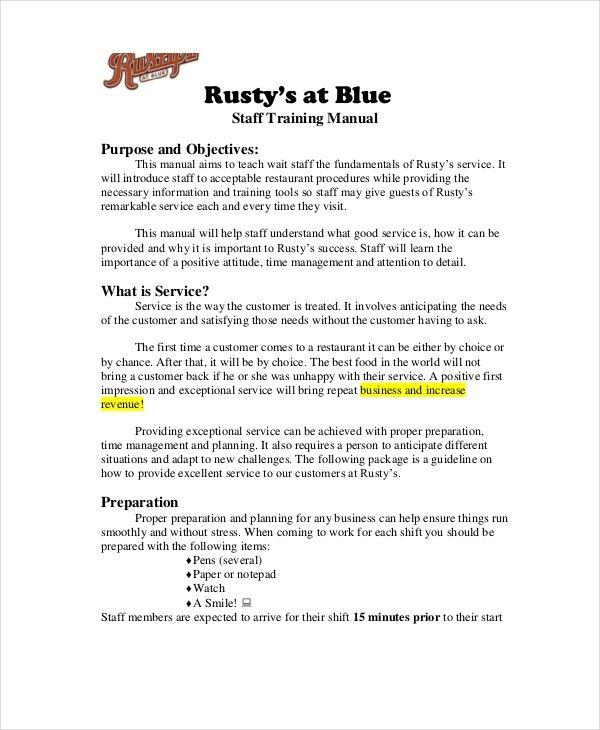Training Manual Templates 15 Free Printable Word Pdf With