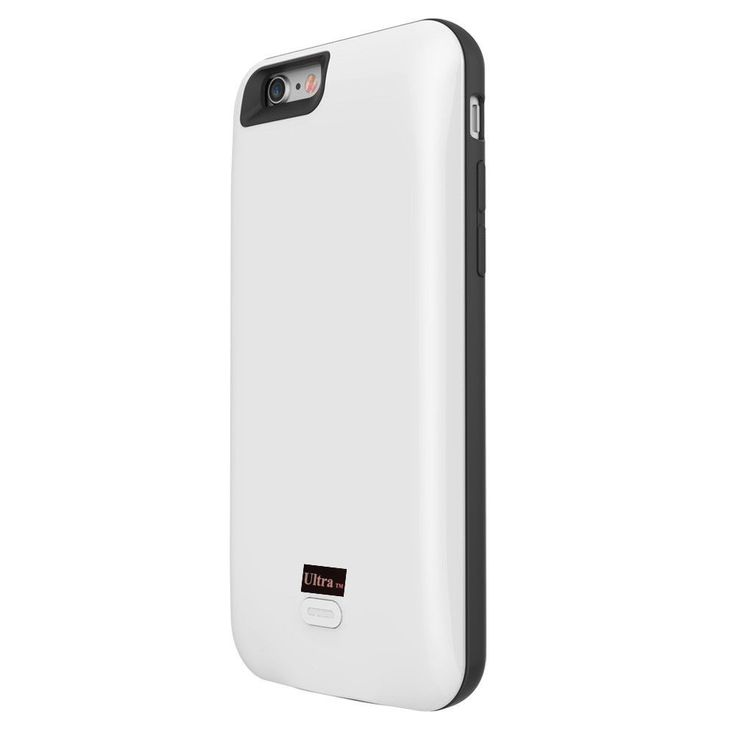 White coloured mobile phone charger case for iPhone 7 and 7 plus mobile phones cases