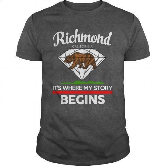 Richmond - CALIFORNIA - ITS WHERE MY STORY BEGINS 2016 - #women #sweatshirt design. I WANT THIS => https://www.sunfrog.com/Names/Richmond--CALIFORNIA--ITS-WHERE-MY-STORY-BEGINS-2016-Dark-Grey-Guys.html?60505