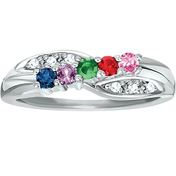 Something I look forward to getting one day :) This family ring is beautiful!
