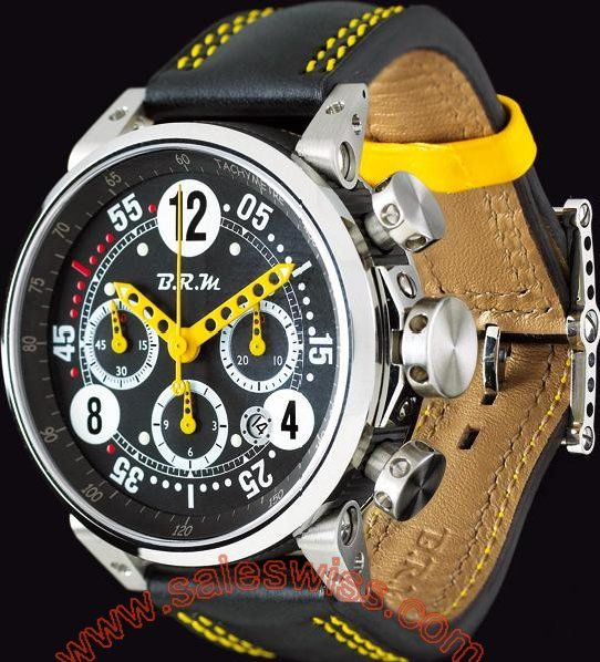 B.R.M G45 T Yellow Hands BRM-007 Mens Watch G45 T AJ ,Mens,B.R.M