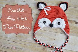 Ravelry: Free Crochet Fox Hat pattern by The Stitchin' Mommy sized for toddlers ages 1-3.