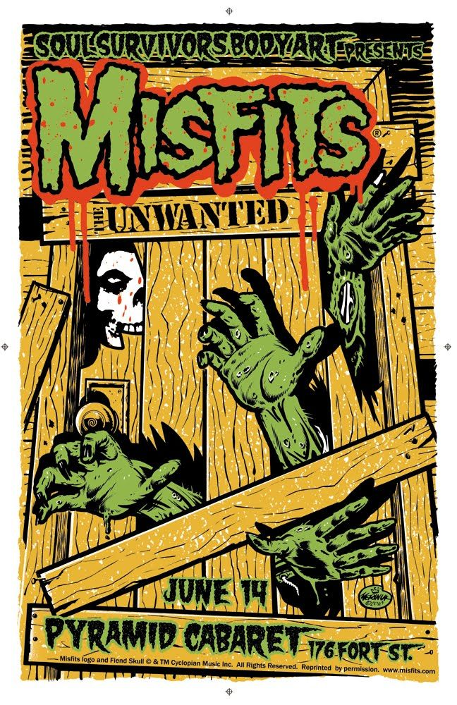 Misfits Concert Poster Art - Obsessed With Skulls