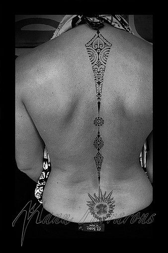 Photos of Polynesian and Tahitian tattoos created by Manu FARRARONS. Freehand artwork