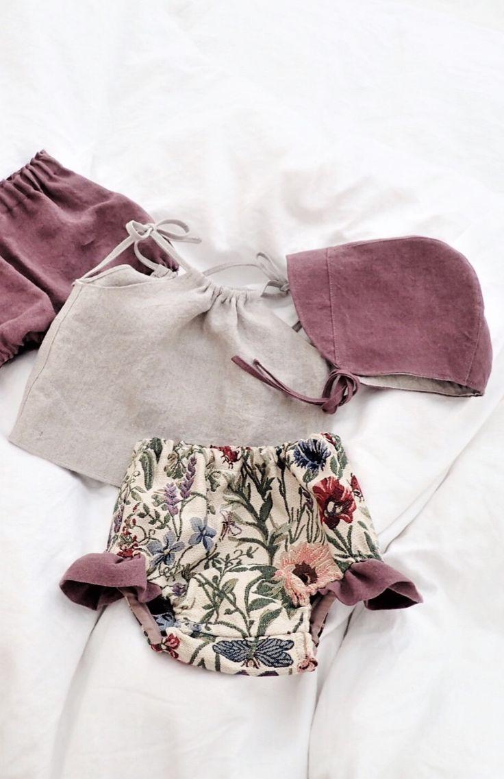 Handmade Floral Bloomers, Top & Bonnet   moonroomkids on Etsy