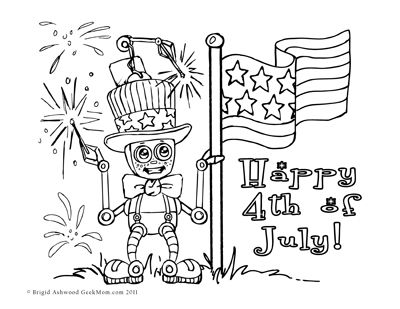4th of july coloring book pages