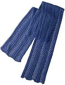Dimple Shale Scarf - Free Knitting Patterns by Kelley Petkun