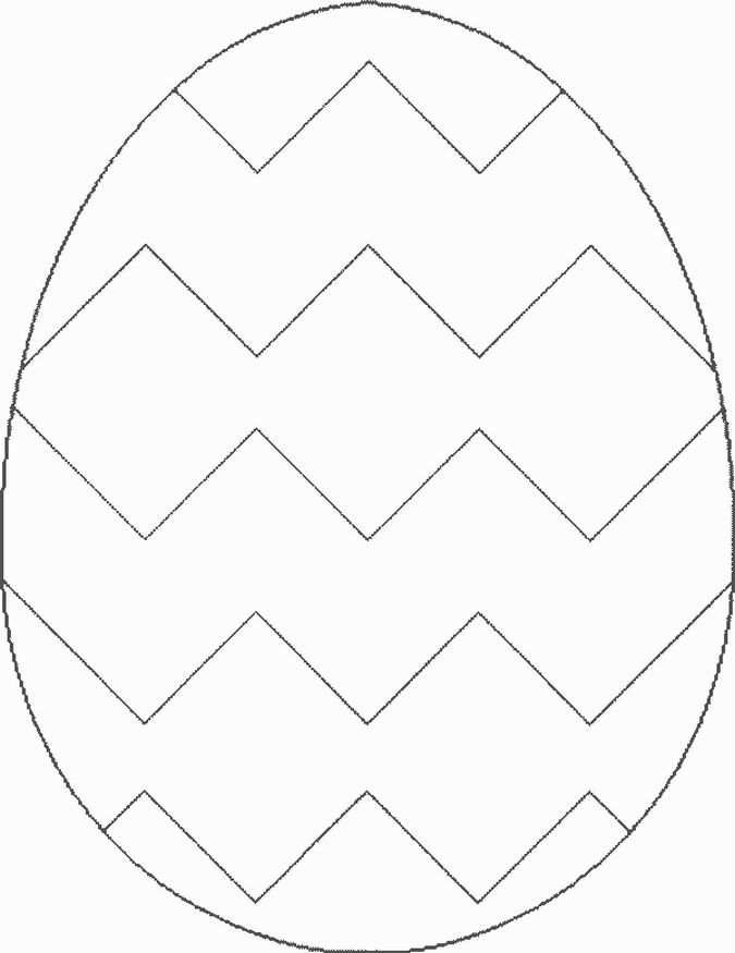 blank bunny template Easter Egg