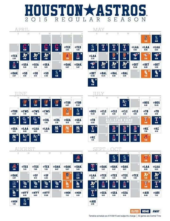 graphic relating to Astros Schedule Printable known as Houston Astros 2018 Program Calendar Identical Search phrases