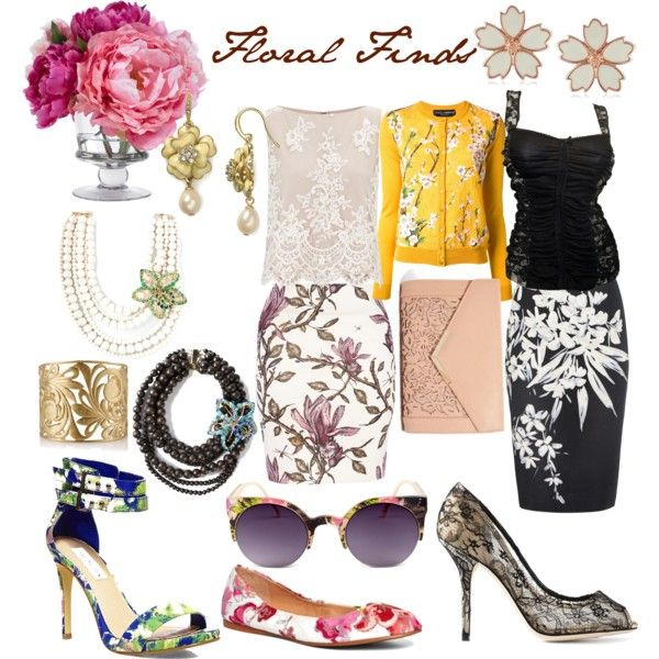 """""""Floral Finds"""" by caryvanessa on Polyvore"""