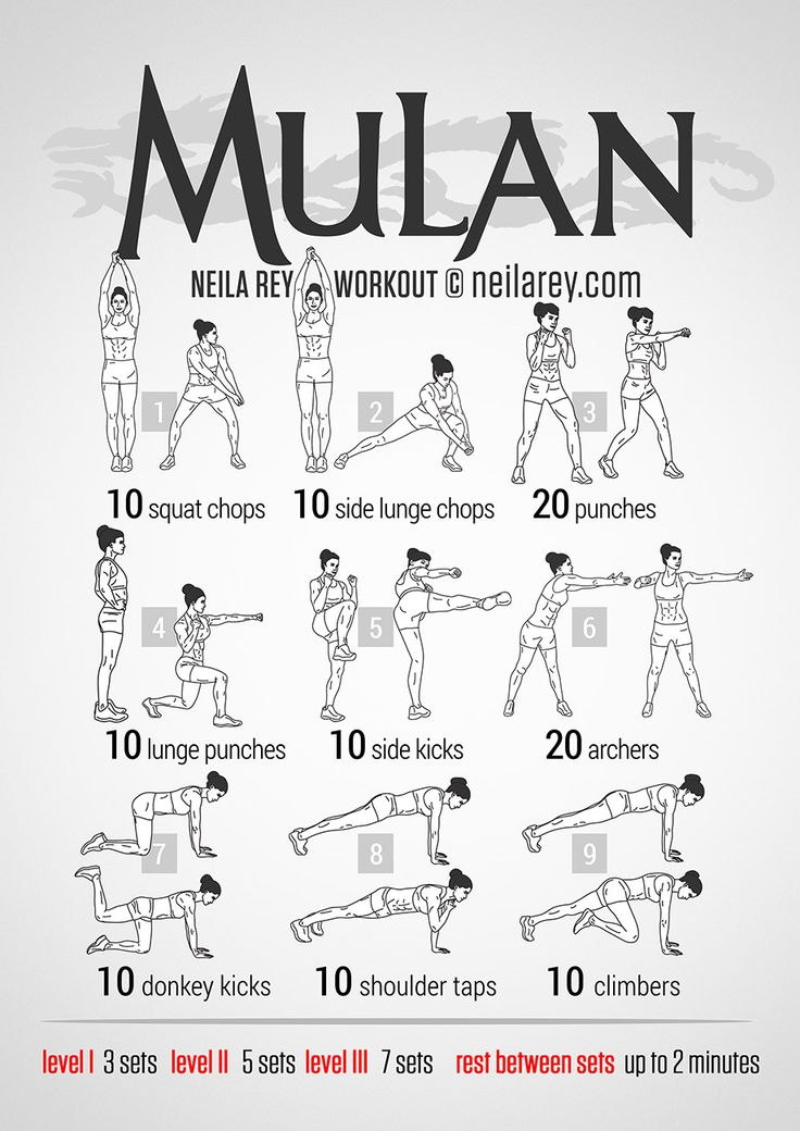 For the Self // Mulan Workout #thinspo