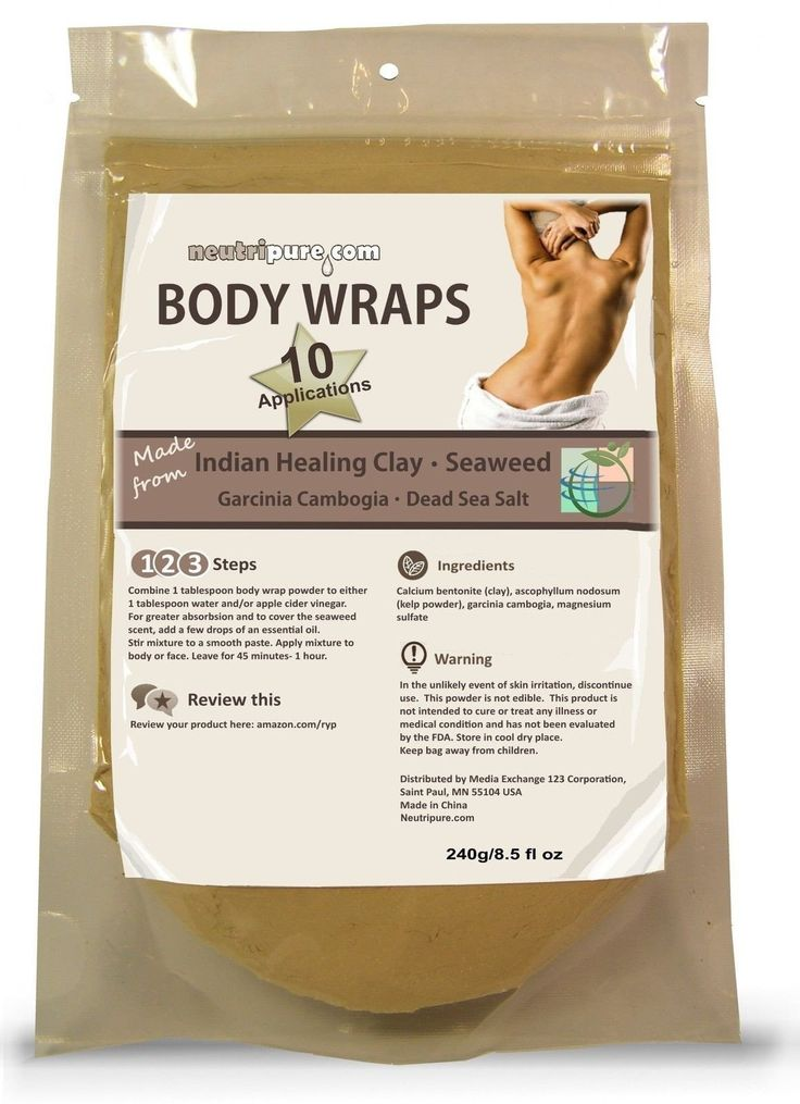 Diy Slimming Body Wrap: Spa Formula For Home Use: Seaweed Healing Clay Garcin...
