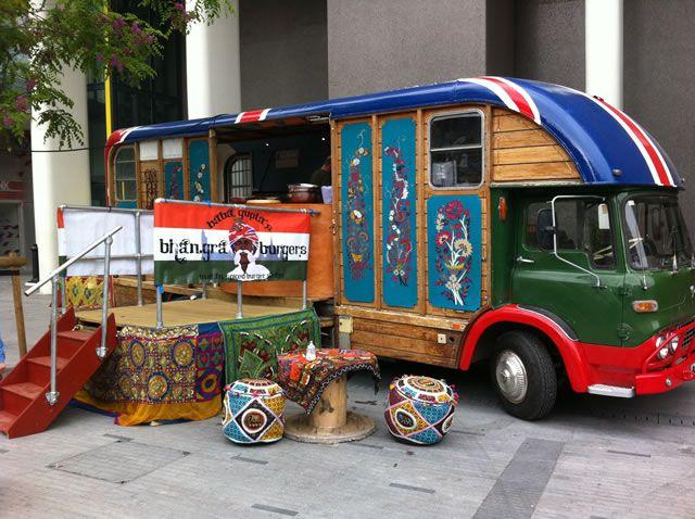 Bhangra Burger truck, London. #foodtrucks