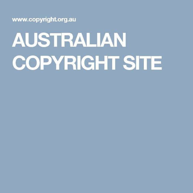 AUSTRALIAN COPYRIGHT SITE