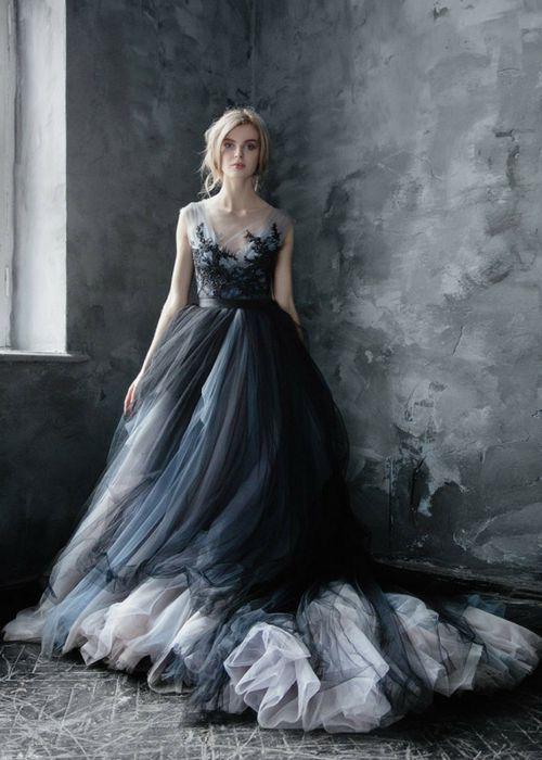 boda gótica: ideas para vestidos de novia góticos【fotos】 | estilo