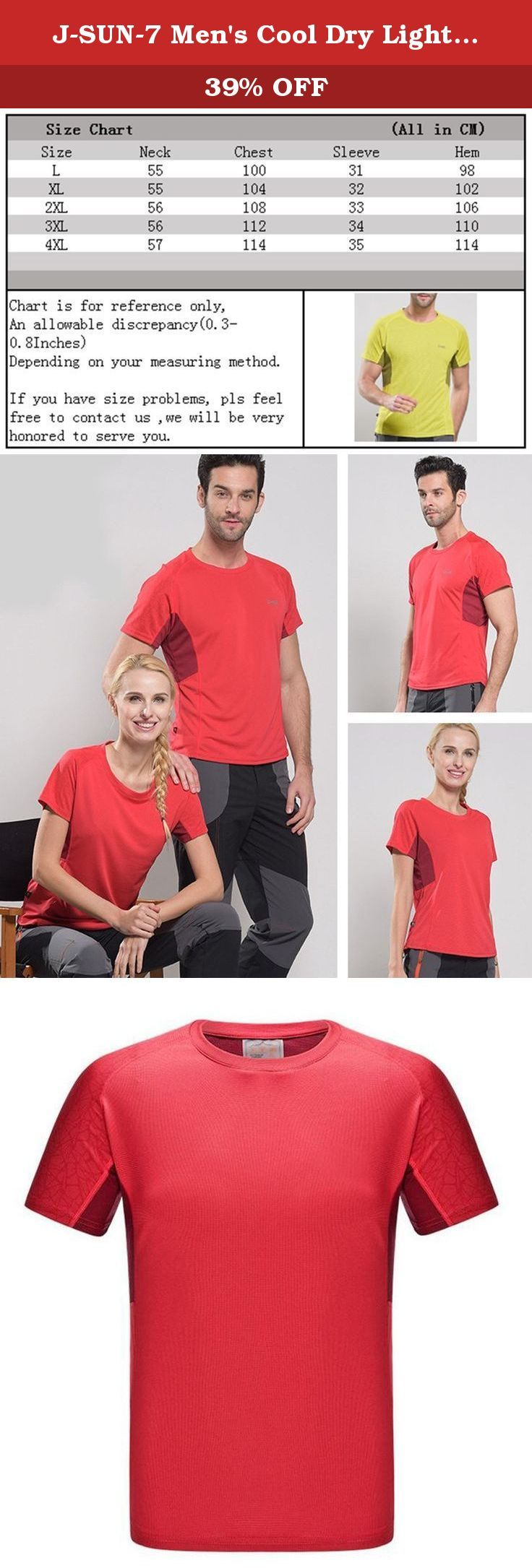 J-SUN-7 Men's Cool Dry Lightweight Solid Color T-Shirt Running Short Sleeve Top(Red(Men),US L/AsianL). A Letter to Customer J-SUN-7 Fashion Store aims to provide the best products and service for you and make your life more convenient & brilliant. To ensure what you received works in good condition, all the products we sell from manufacturing - stocking - packing - shipping have passed strict quality test. All we want is to serve our customers well and make you feel surprised when you get...