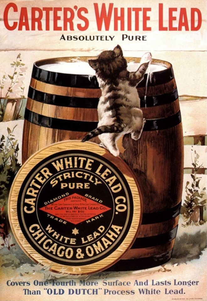 Vintage Ad 1910s Carter White Lead Company 1877-1938 Omaha, Douglas County, Nebraska, Manufacturer of White and Red Leads NOT PAINT
