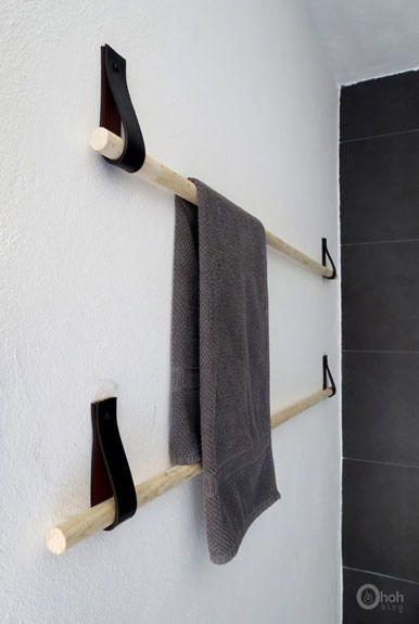 Diy colgar toallas