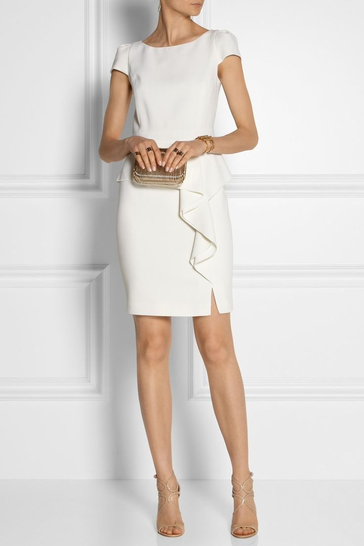 Emilio Pucci | Stretch-wool crepe peplum mini dress