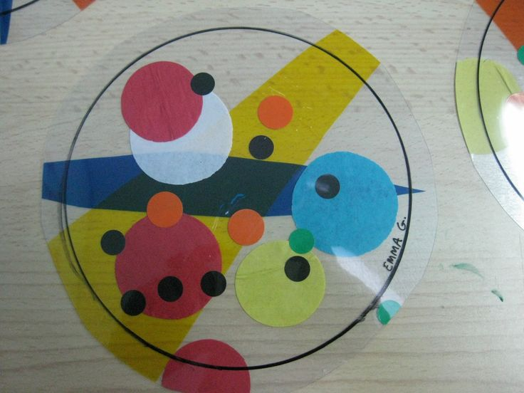 This would be so cool as an overhead projector activity for kids to explore. Love the Kandinsky circles in circles!