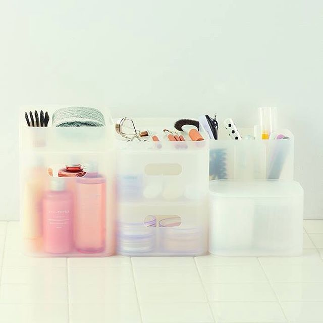 Organize your beauty items with MUJI's PP Makeup Boxes. Currently 15% OFF  at MUJI · 無印良品 ...