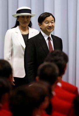 La princesse Masako du Japon a assisté avec son époux le prince Naruhito à une cérémonie à Tokyo en prélude aux Jeux olympiques de Rio.