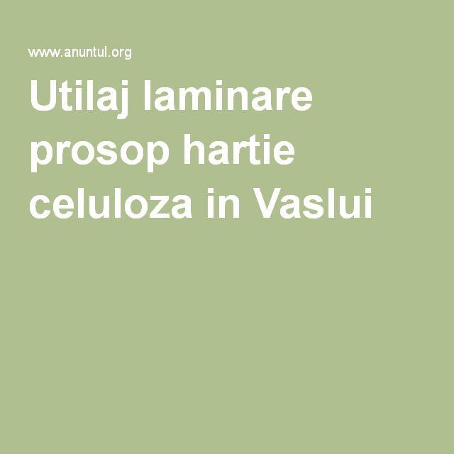 Utilaj laminare prosop hartie celuloza in Vaslui