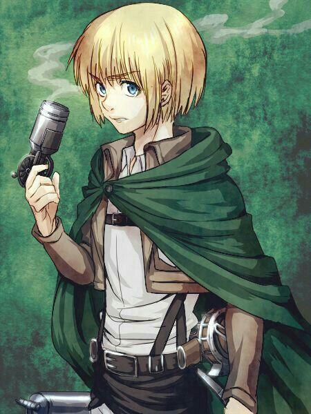 Armin Arlert, signal flare gun; Attack on Titan | Attack ...