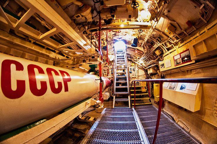 torpedo room russian submarine foxtrot b 39 San Diego Maritime Museum