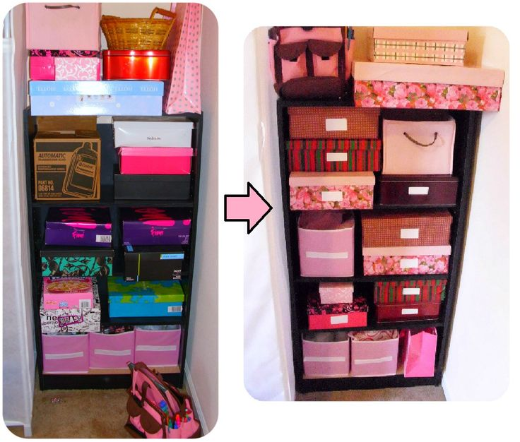 DIY Organization  Shoe boxes and wrapping paper = beautiful storage boxes!