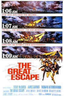 The Great Escape: Movie Posters, Film, War Movies, Escape 1963, Favorite Movies, Steve Mcqueen, Number, War Ii
