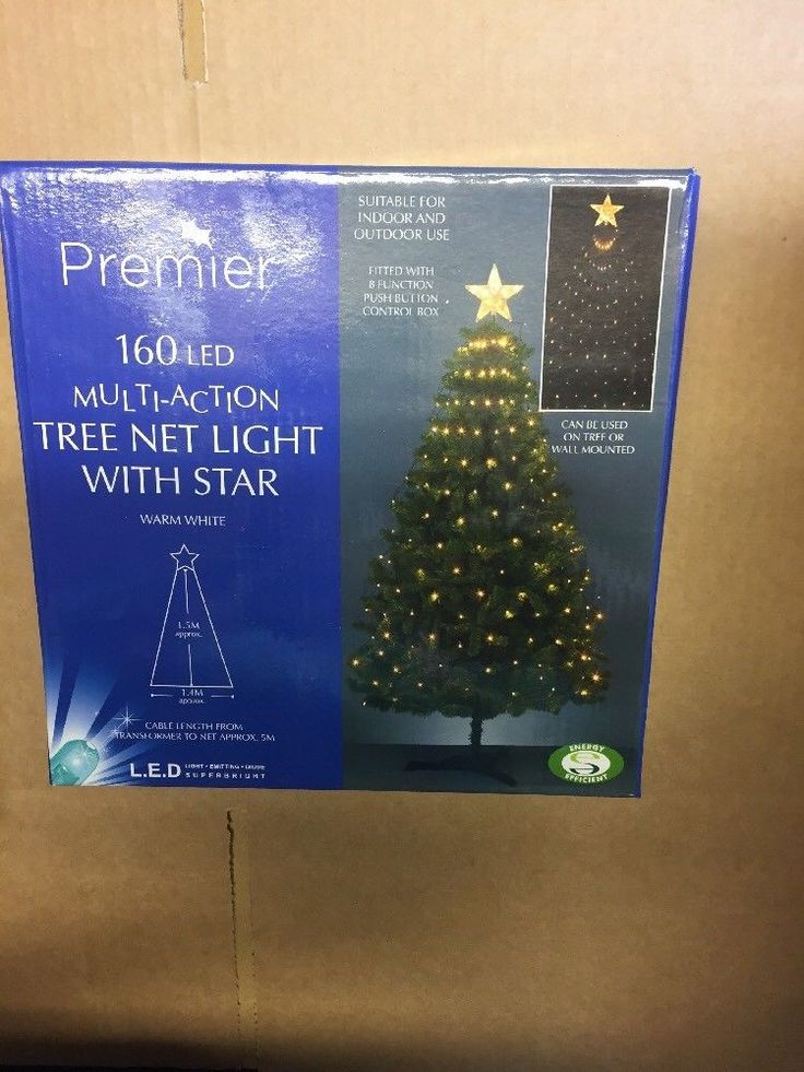 160 LED Christmas Tree Net Light With Star. Indoor / Outdoor - 8 Functions  | eBay