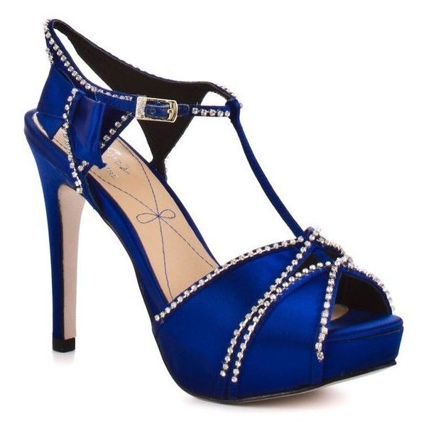 Royal blue heels ❤ liked on Polyvore featuring shoes, sandals, high heel shoes, silver sandals, silver high heel sandals, high heels sandals and silver shoes